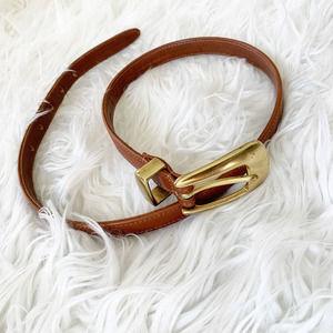 COACH Leather Belt Metal Buckle M